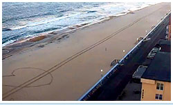 Snapshot image of a large heart drawn on the beach in Ocean City