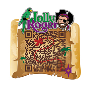 A custom QR Code for Jolly Rogers